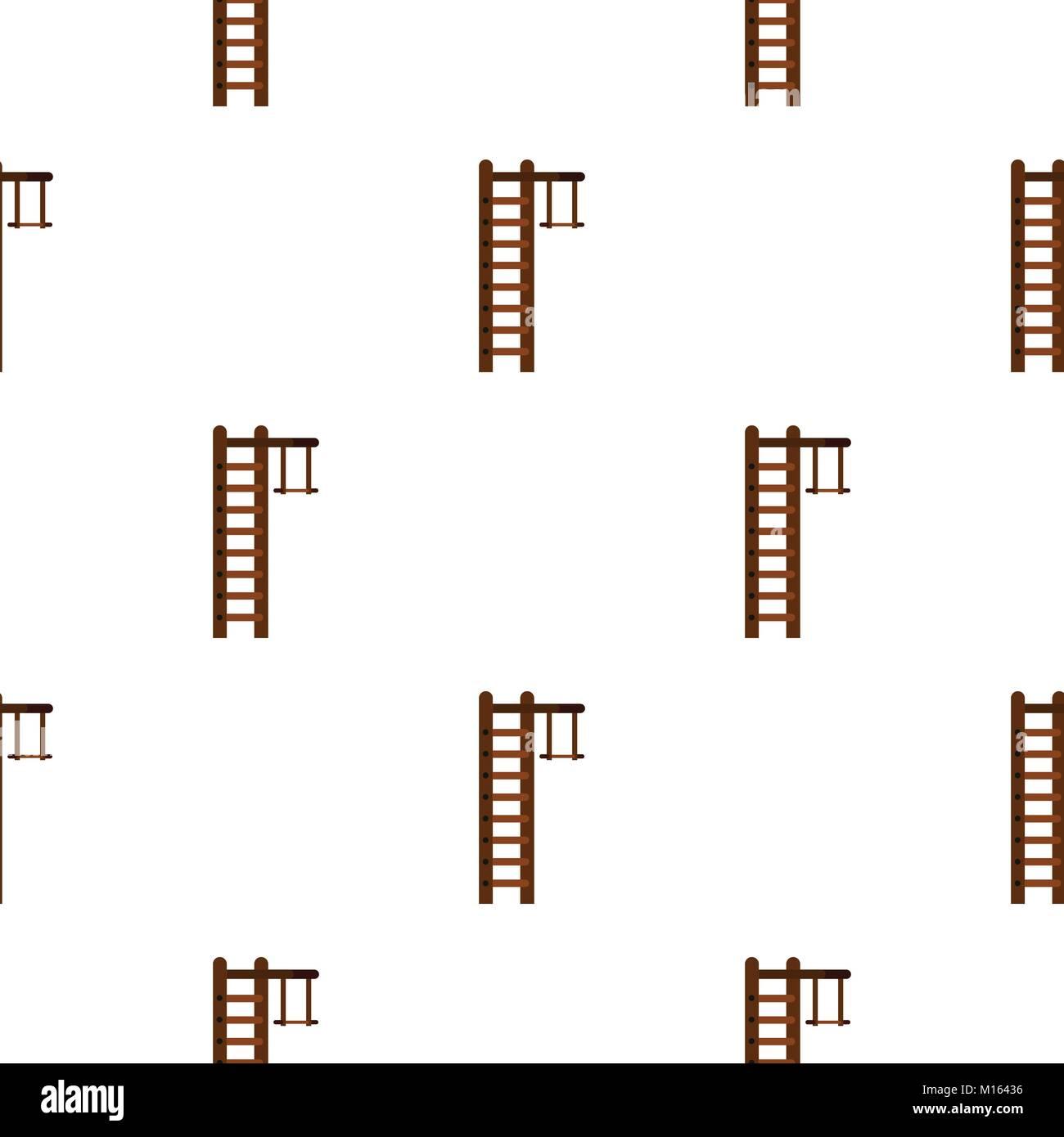 Swedish ladder pattern flat - Stock Image