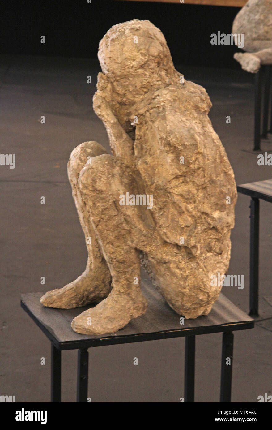 One Of Twenty Cast Preserved Victims From The Mount Vesuvius Eruption In 79 AD A Inside