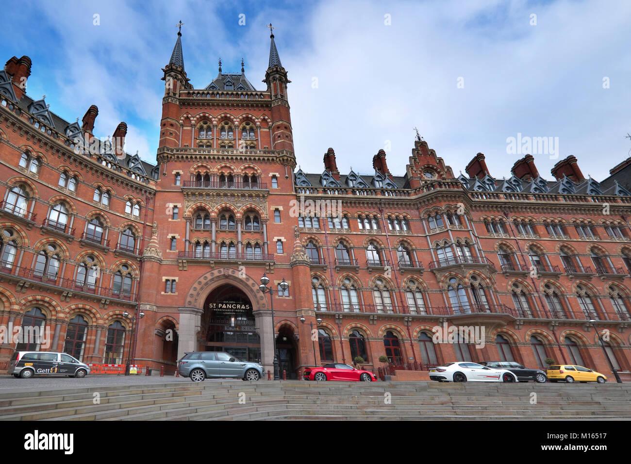 the st pancras hotel london - Stock Image