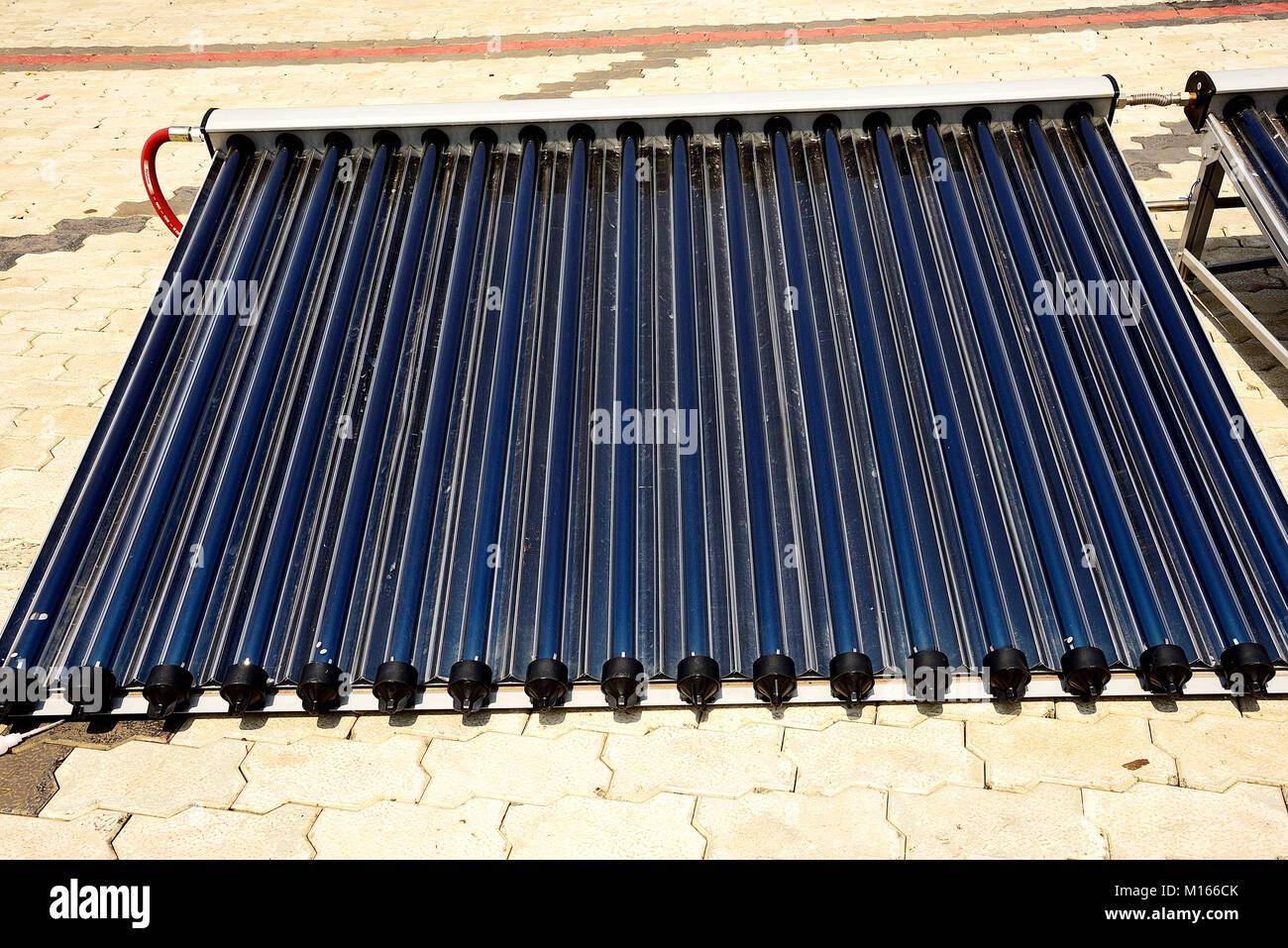 Solar Water Heater - Stock Image