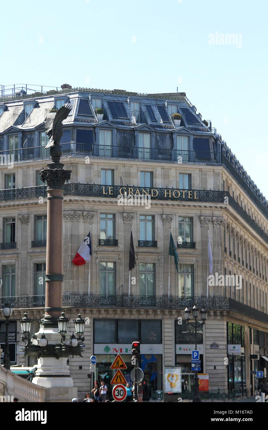 The Intercontinental Paris Le Grand Hotel Paris France Stock Photo Alamy