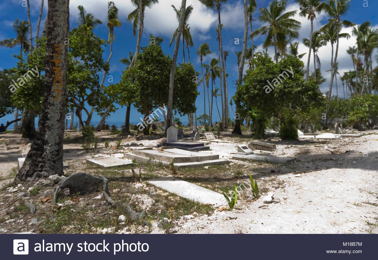 Island cemetery Tarawa - Stock Image