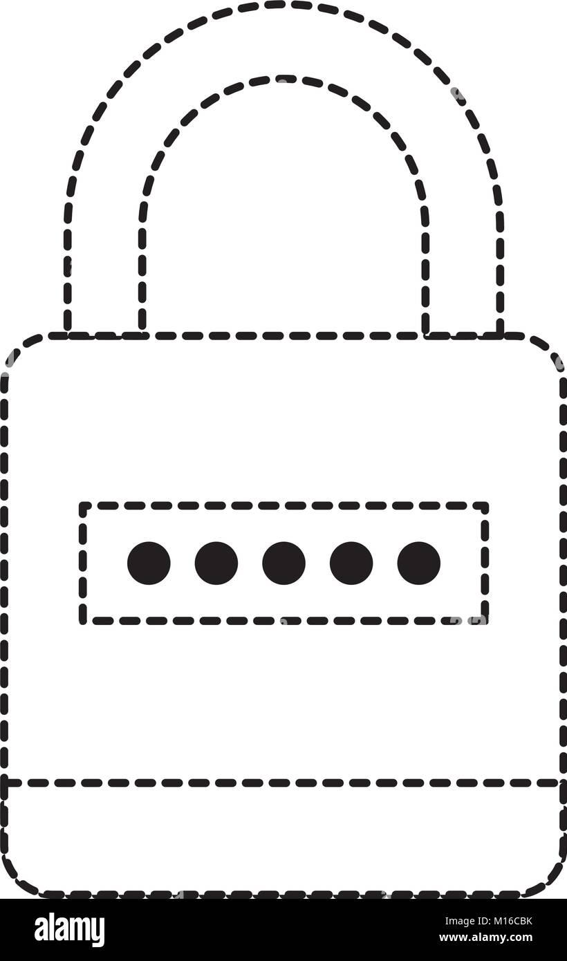 Security padlock icon - Stock Image