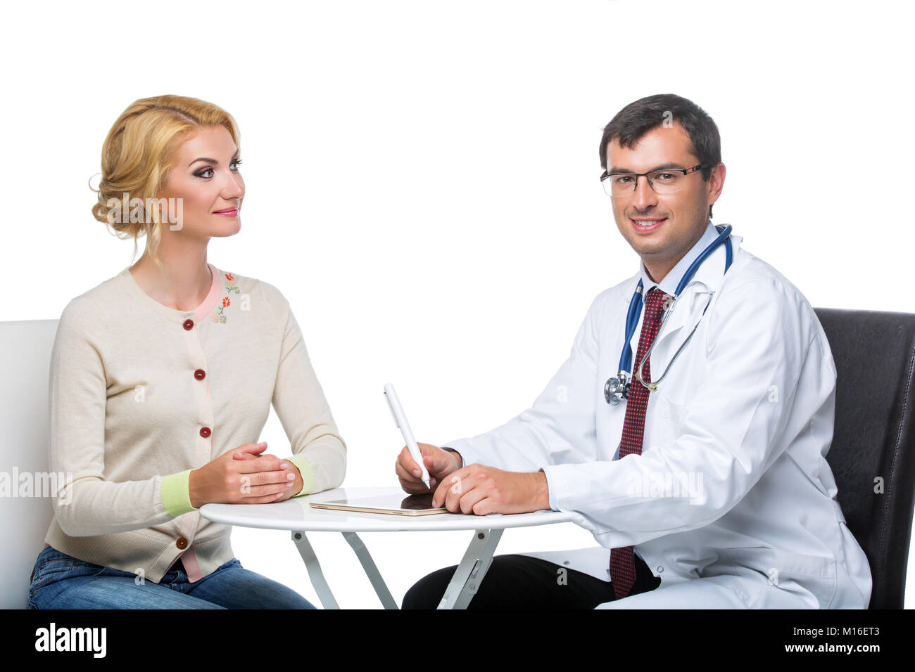 woman at doctor appointment Stock Photo