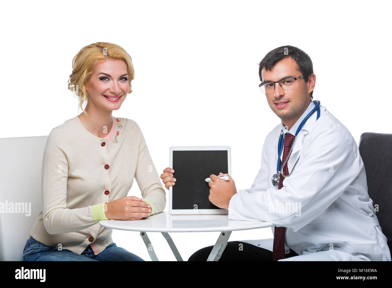woman at doctor appointment - Stock Image