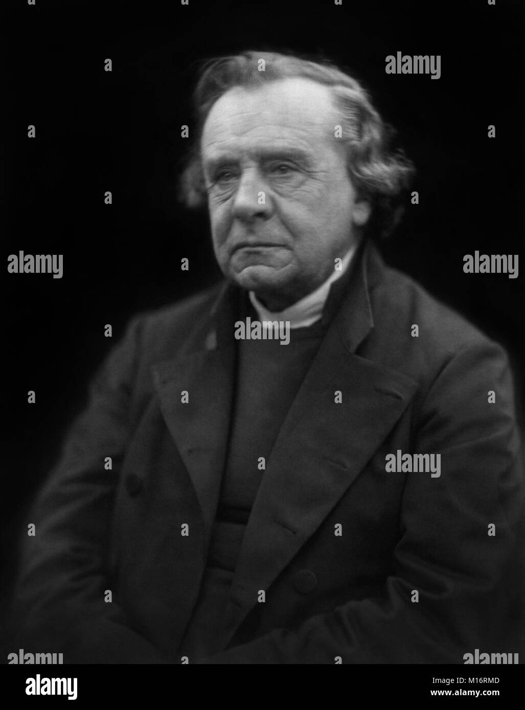 Samuel Wilberforce FRS (1805-1873), Bishop of Oxford and third son of William Wilberforce, was an opponent of Darwin's - Stock Image