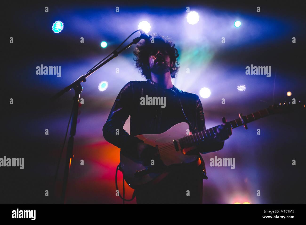 Bologna, Estragon Club 26.01.2018. Canova italian indie rock band performing in Avete Ragione Club Tour Credit Luigi Stock Photo