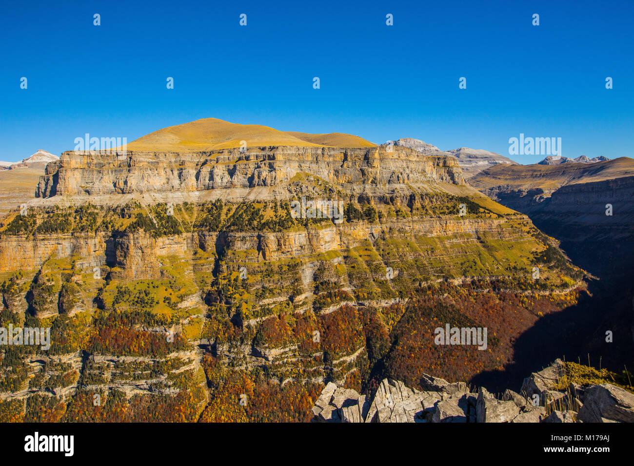 Autumn in Pyrenees Stock Photo