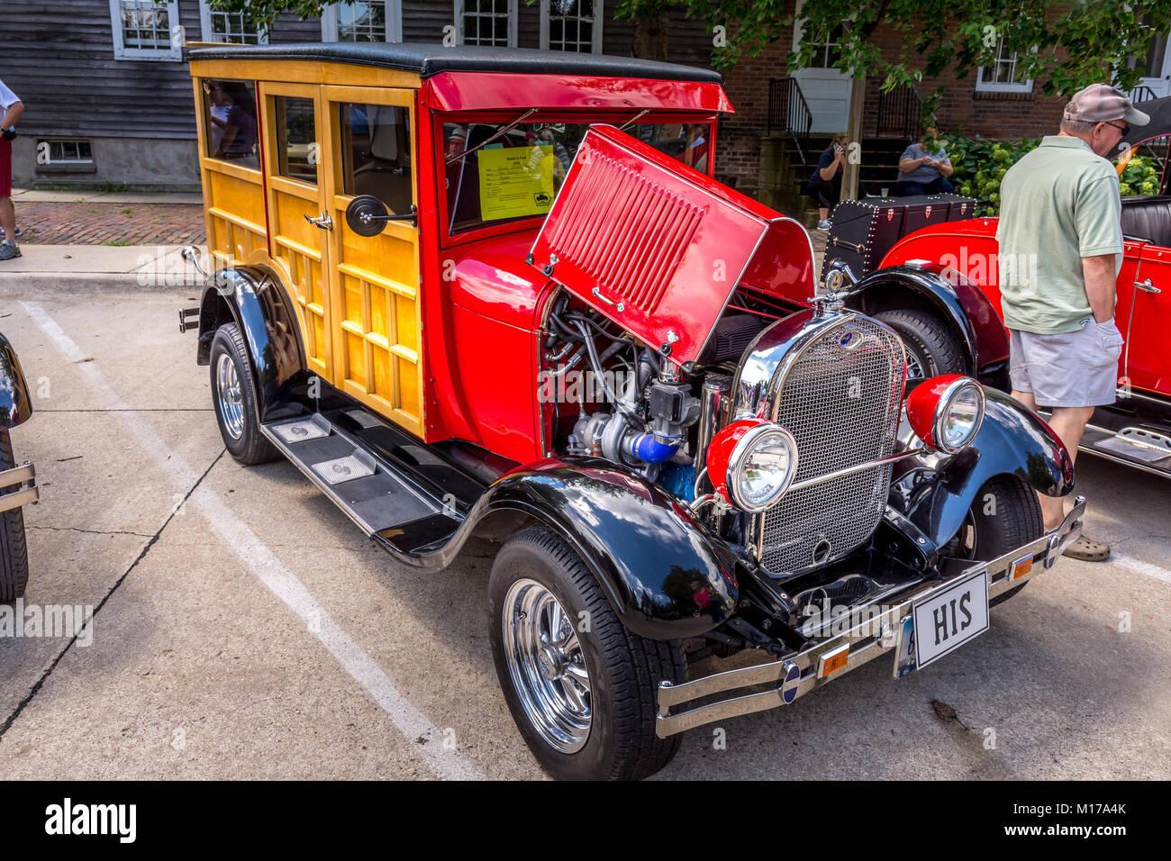 Model T Car photographed in Amana Colonies, Iowa - Stock Image