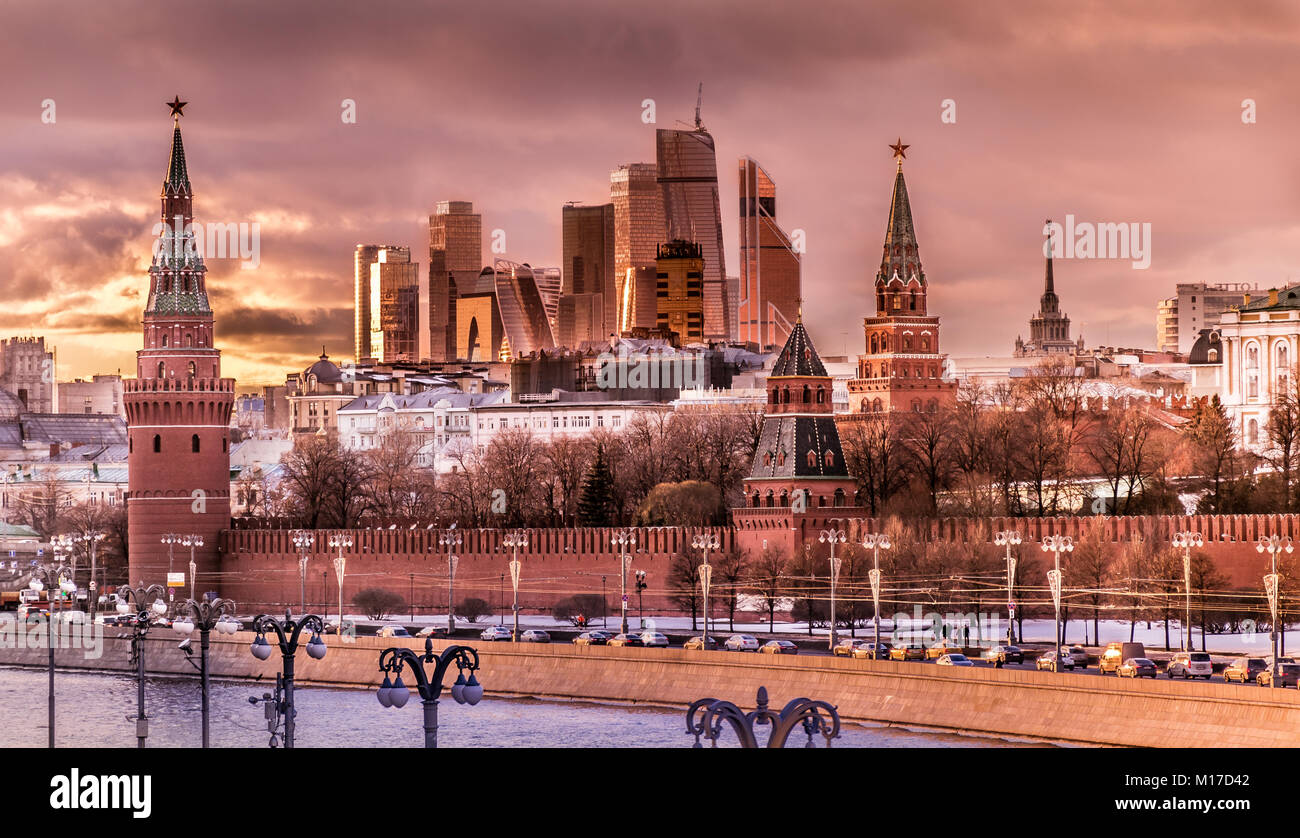 Moscow in black and white - Stock Image