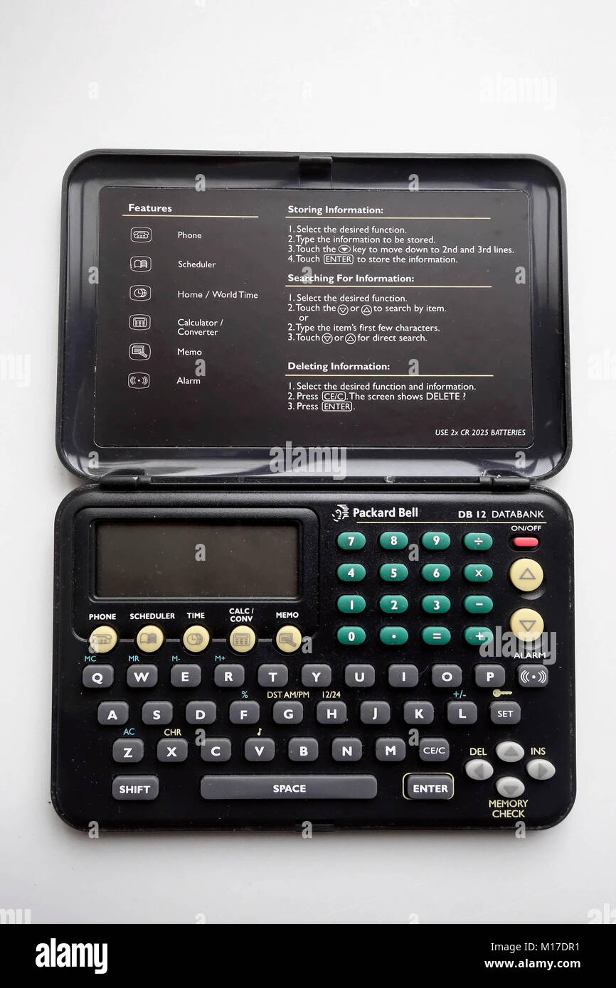 A Packard Bell DB12 PDA - personal digital assistant - Stock Image