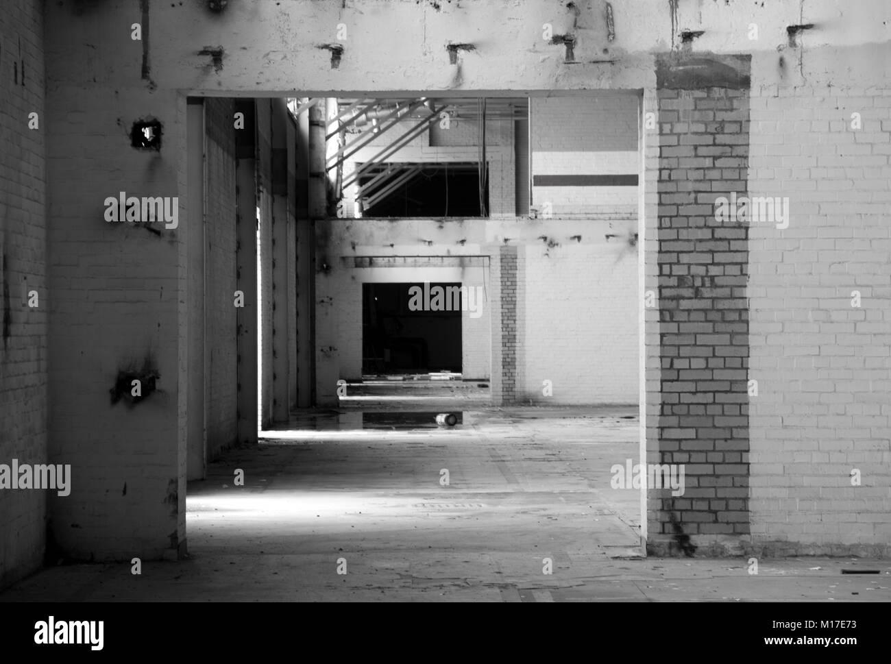 Abandoned Buidings Glasgow. Stock Photo