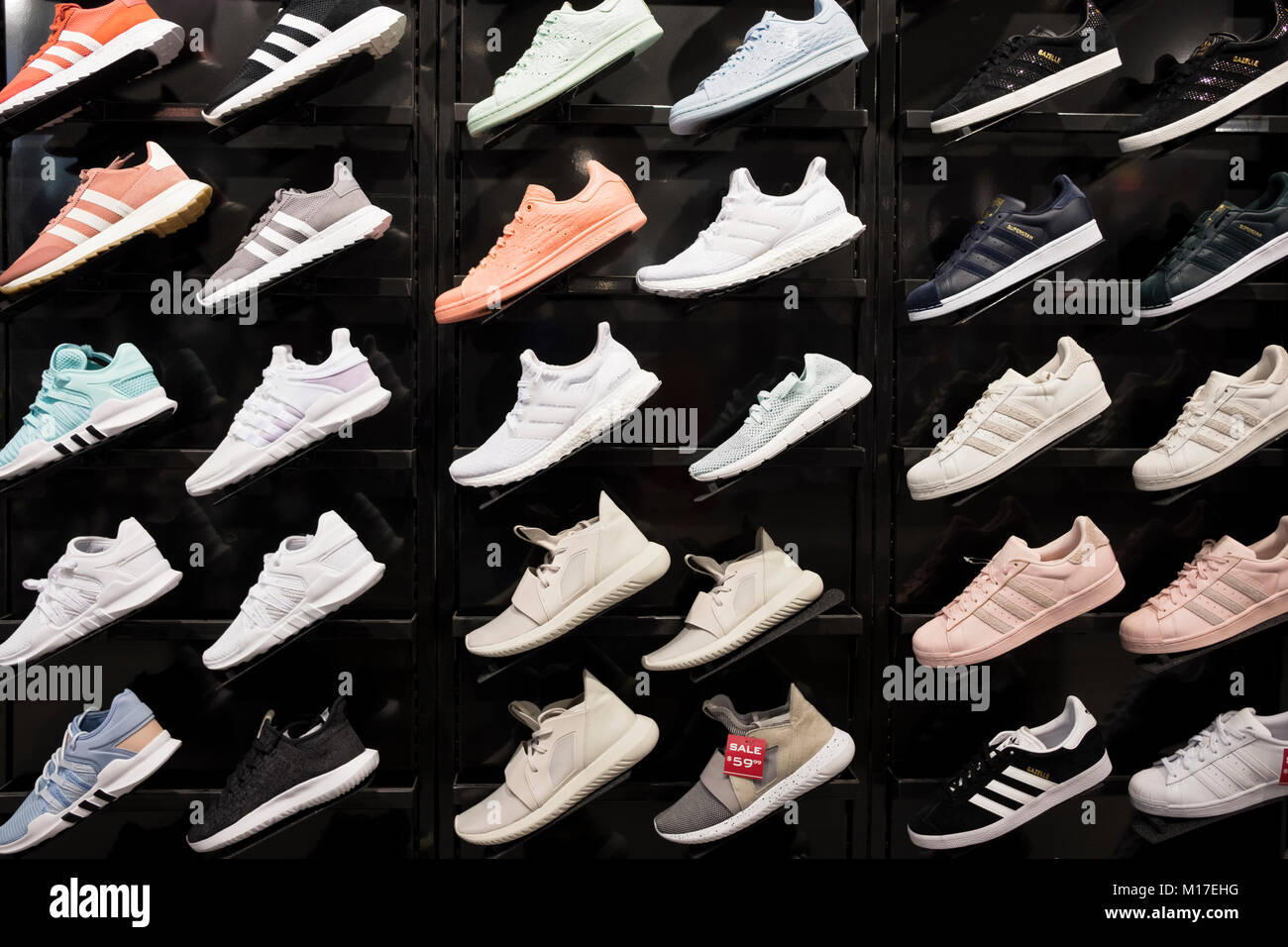 size 40 bdd16 d60b0 Adidas Shoes Display Stock Photos & Adidas Shoes Display ...