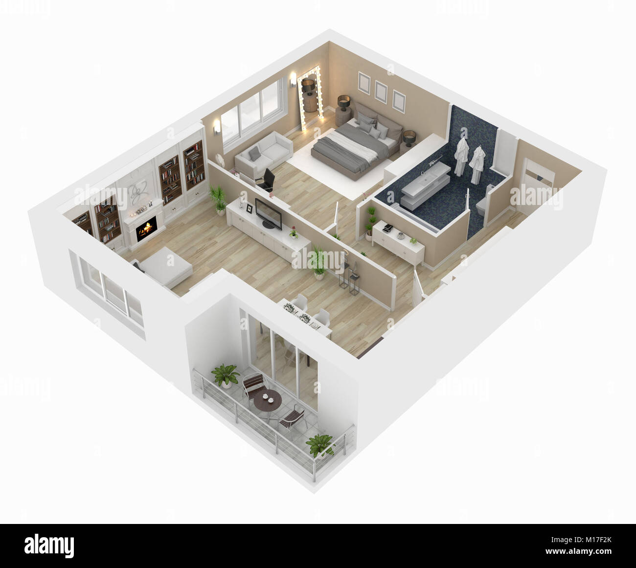 Appartment house stock photos appartment house stock for Planner casa 3d