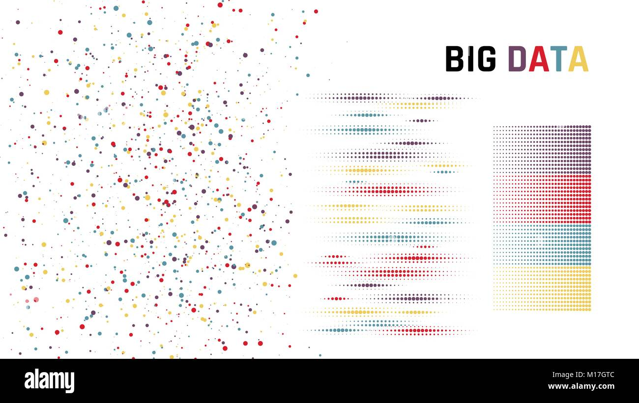 Big data. concept of ordering data. Vector illustration - Stock Vector