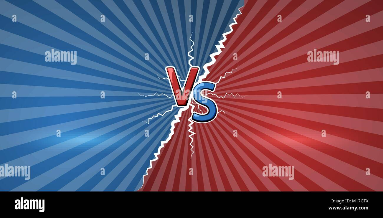 Concept of versus. Template of design for against, confrontation, competition or challenge. VS letters on retro - Stock Vector
