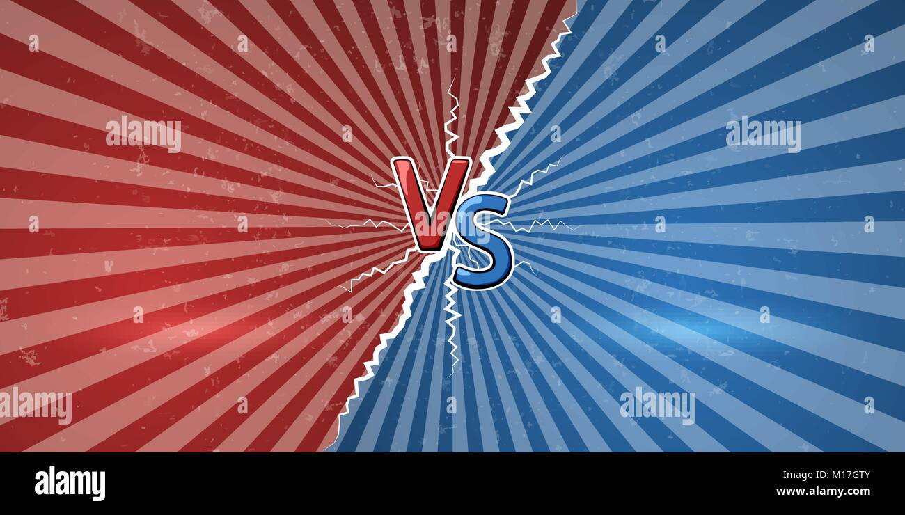 VS symbol of versus. Sketch of challenge banner. Vector illustration - Stock Vector