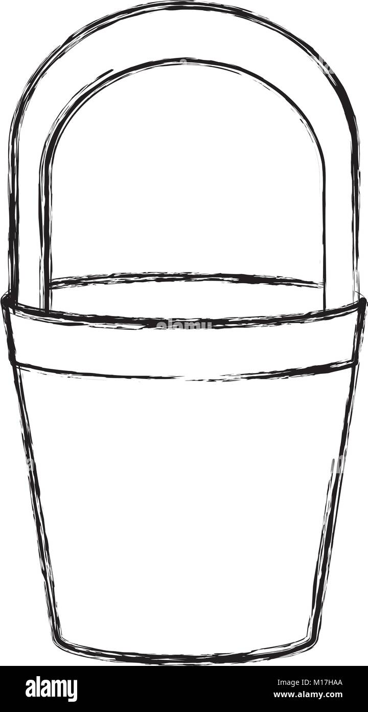Bucket container isolated - Stock Image