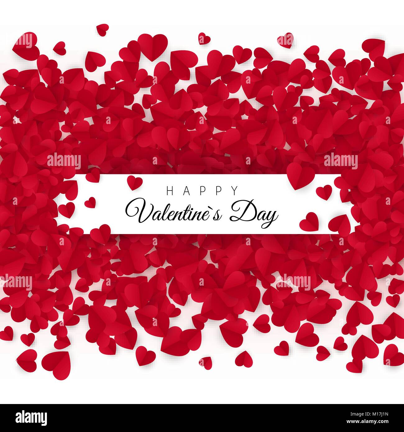 Valentines day greeting card with text - Happy Valentines day