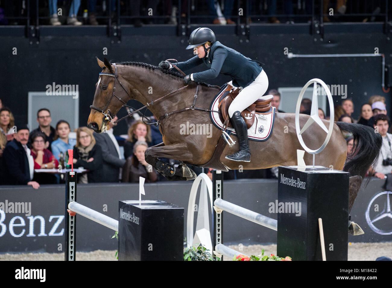 Zurich, Switzerland. 28th January 2018. Sport, Reitsport, Mercedes-Benz CSI Zurich - Mercedes-Benz Classic - LONGINES Stock Photo
