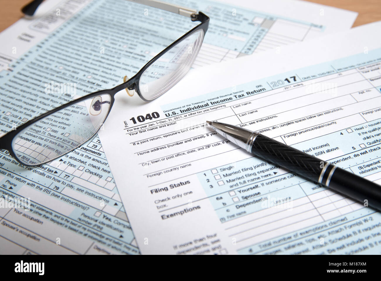 Form 1040 Stock Photos Form 1040 Stock Images Alamy