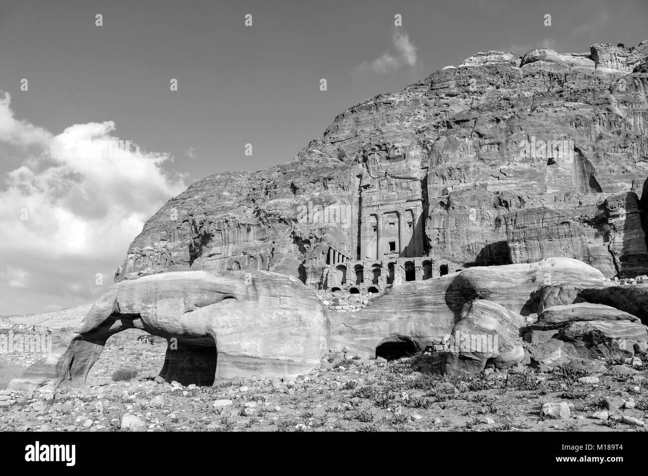huge discount bfdd1 c0f34 Urn Tomb, Silk Tomb and Royal tombs, Petra, Jordan (monochrome) -