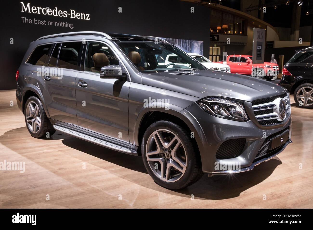 Brussels Jan 10 2018 Mercedes Benz Gls Full Size Luxury Suv Car Stock Photo Alamy