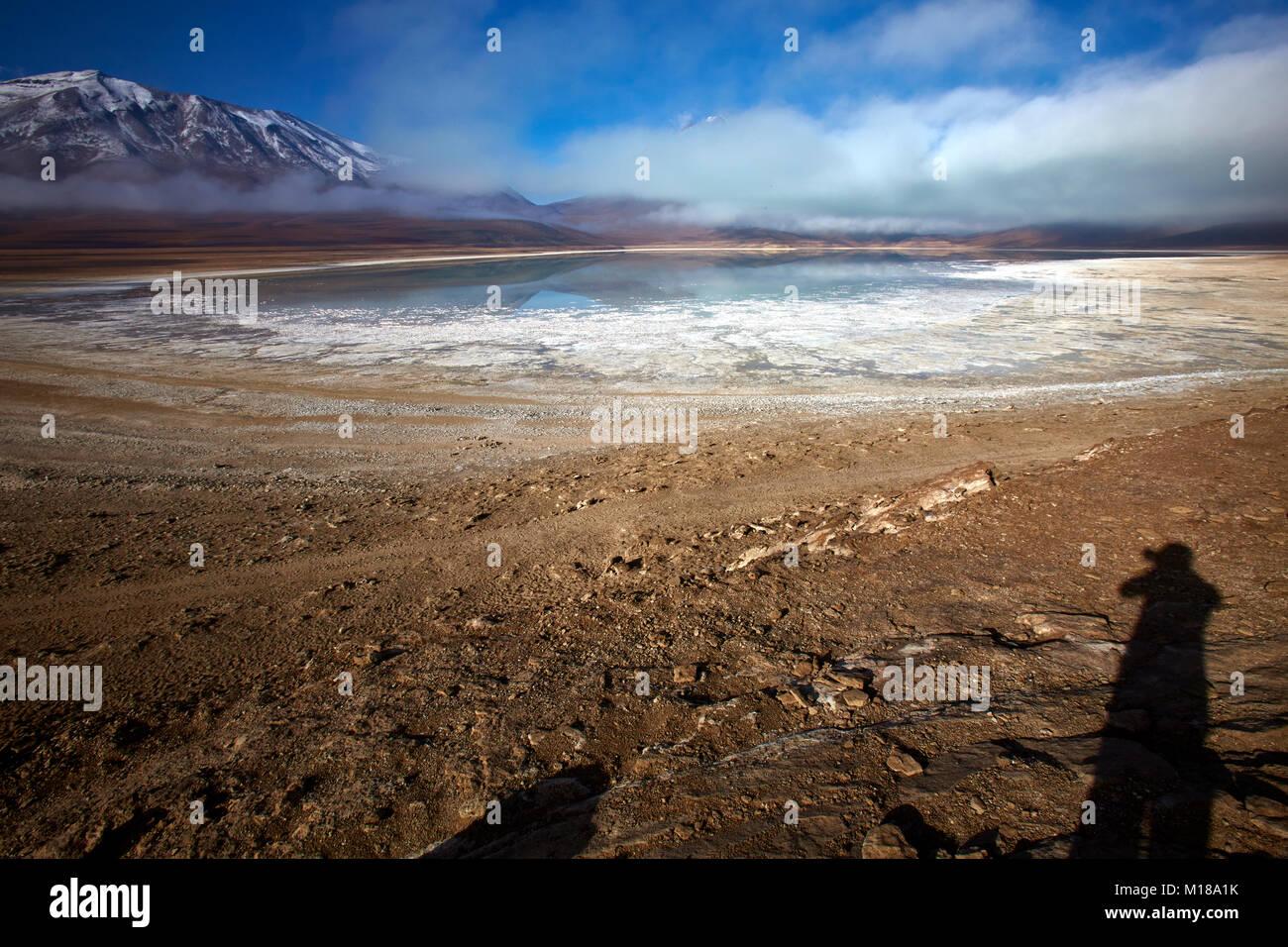 12 hours around the Salar de Uyuni - Stock Image