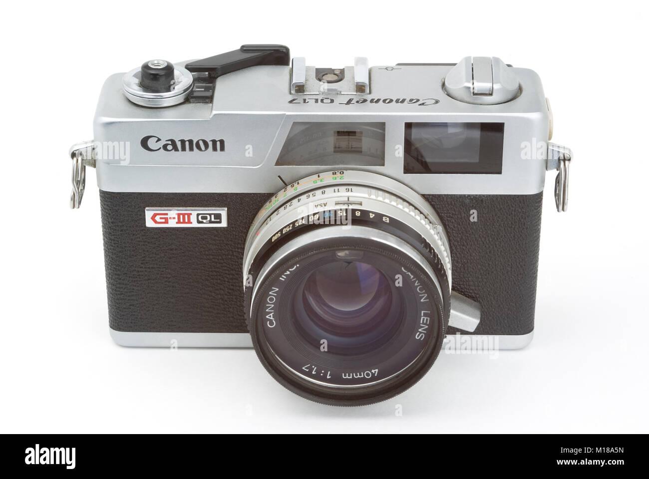 Canon Canonet QL17 - Stock Image