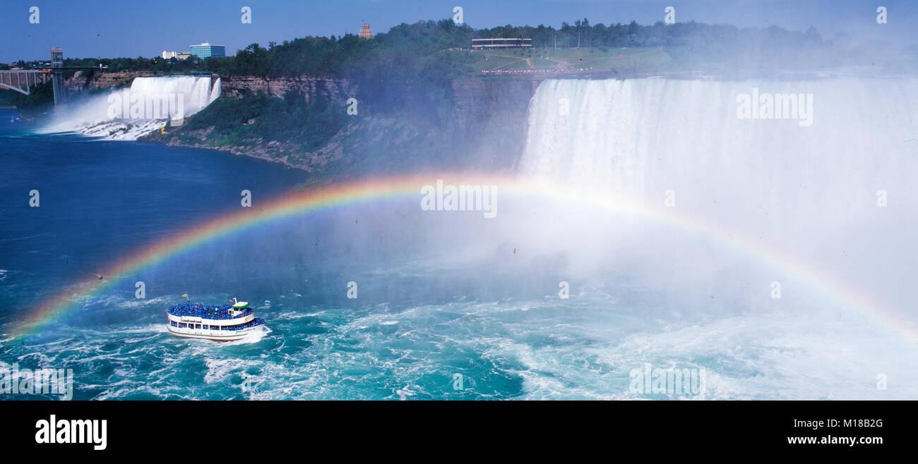 Maid of the Mist tourist  boat, Niagara Falls, Ontario, Canada - Stock Image