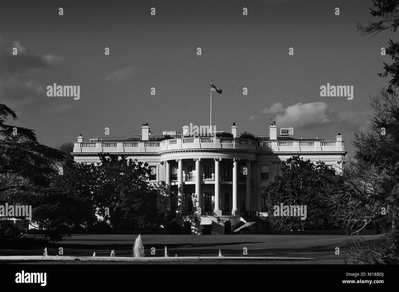 United States of America Washington DC_The White House 2000 - Stock Image