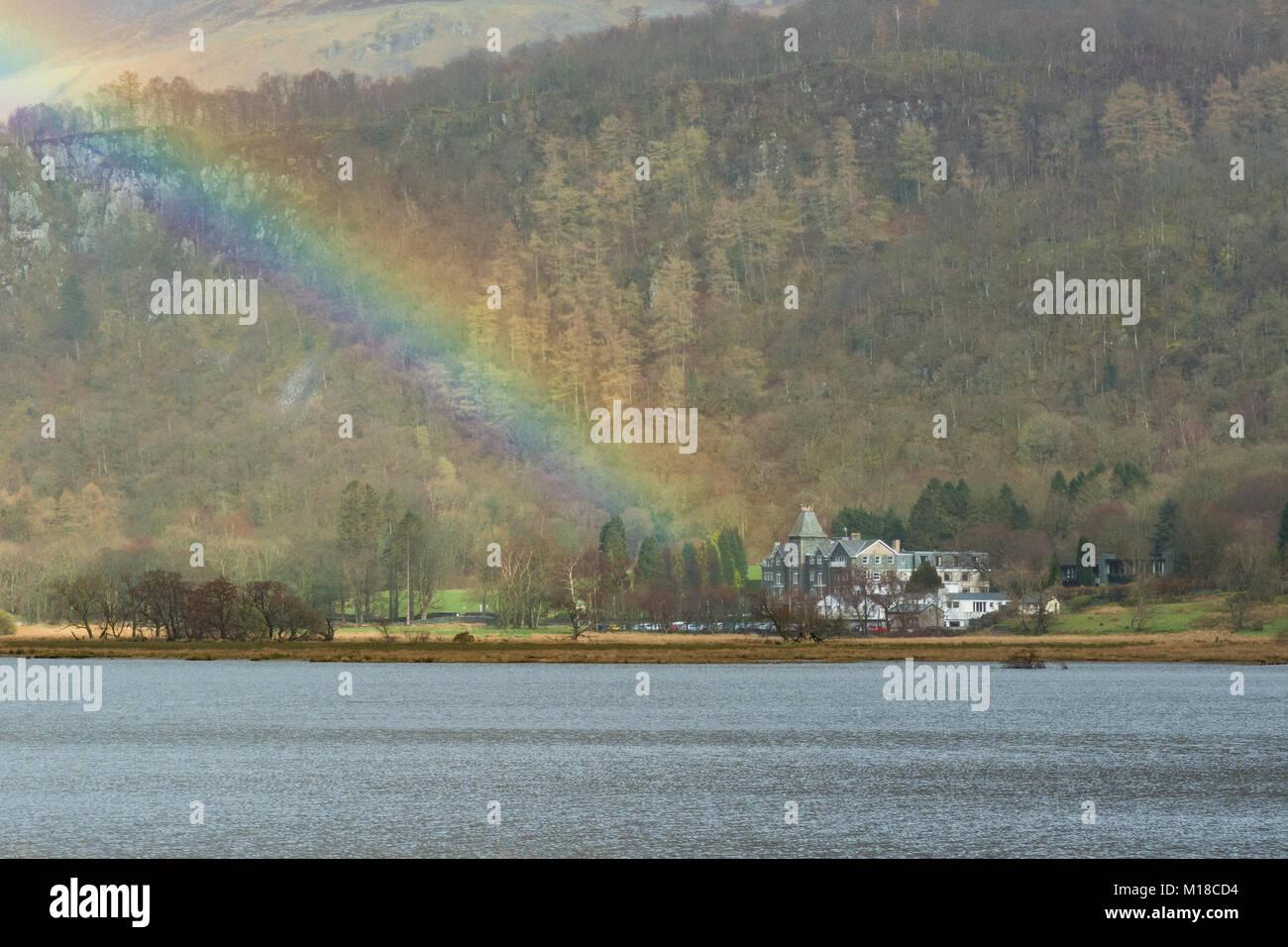 Lodore Falls Hotel, Derwentwater, Lake District, Cumbria, England, - Stock Image