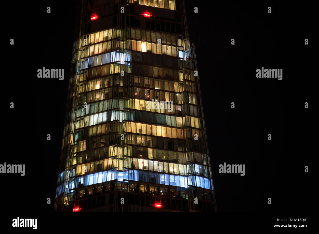 Detail of The Shard in London, England. Stock Photo