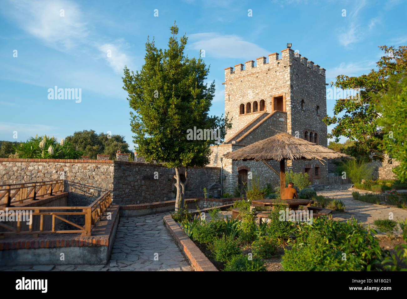 Venetian castle,ruined city,National Park Butrint,Saranda,Albania - Stock Image