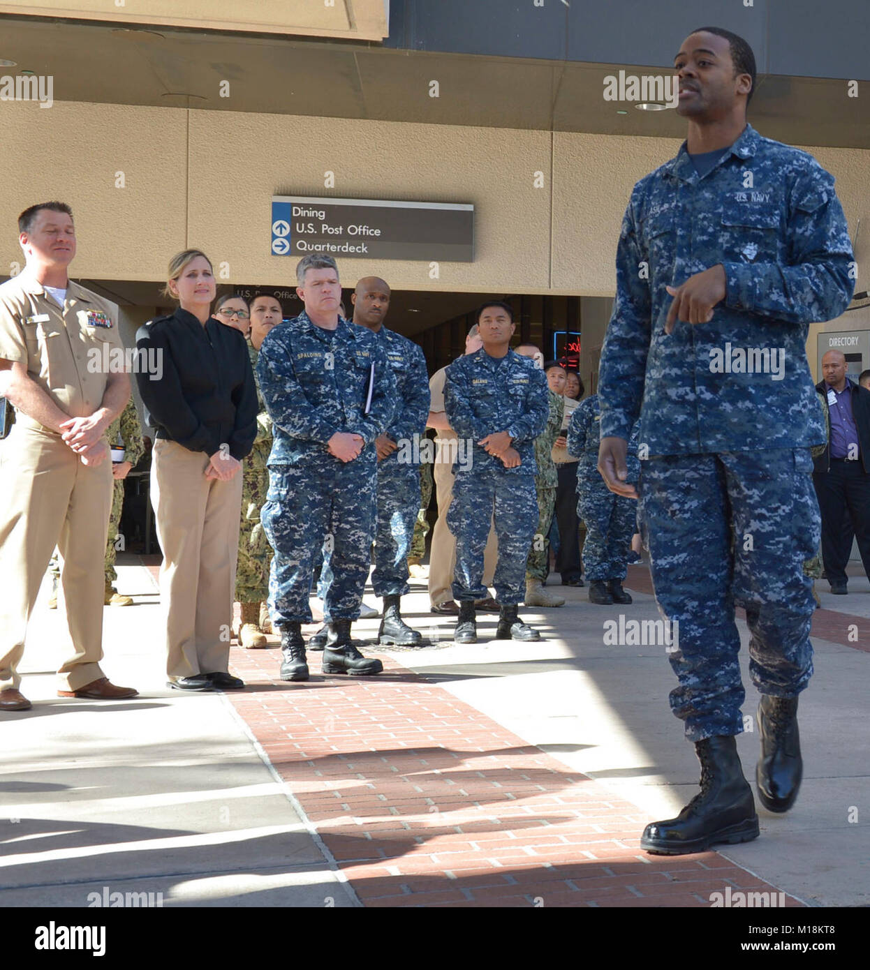 san diego hospital corpsman 3rd class derrick ash recited part of martin luther king jrs i have a dream speech in the naval medical center san diego