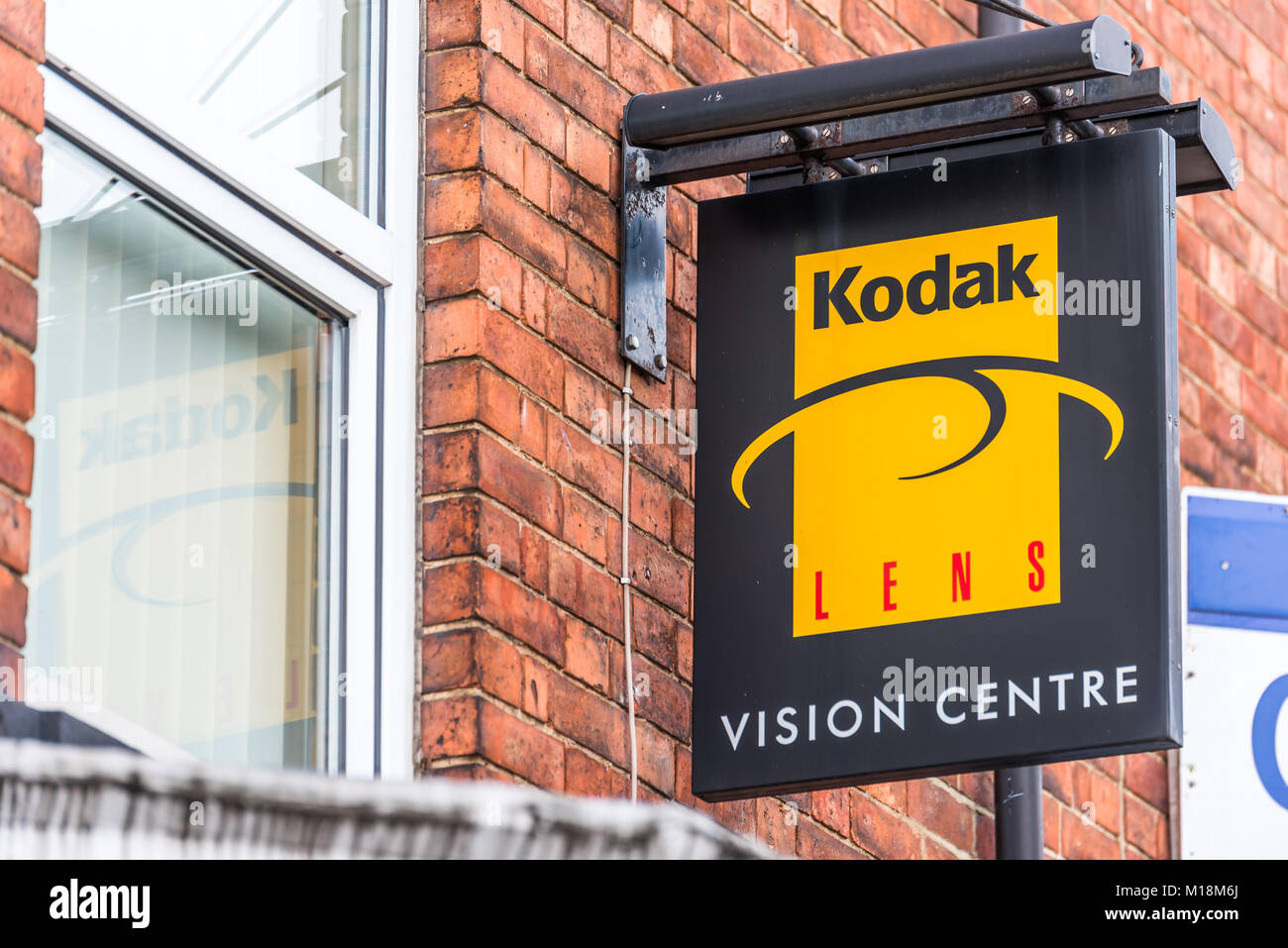 kodak lens vision sign centre january northampton alamy express
