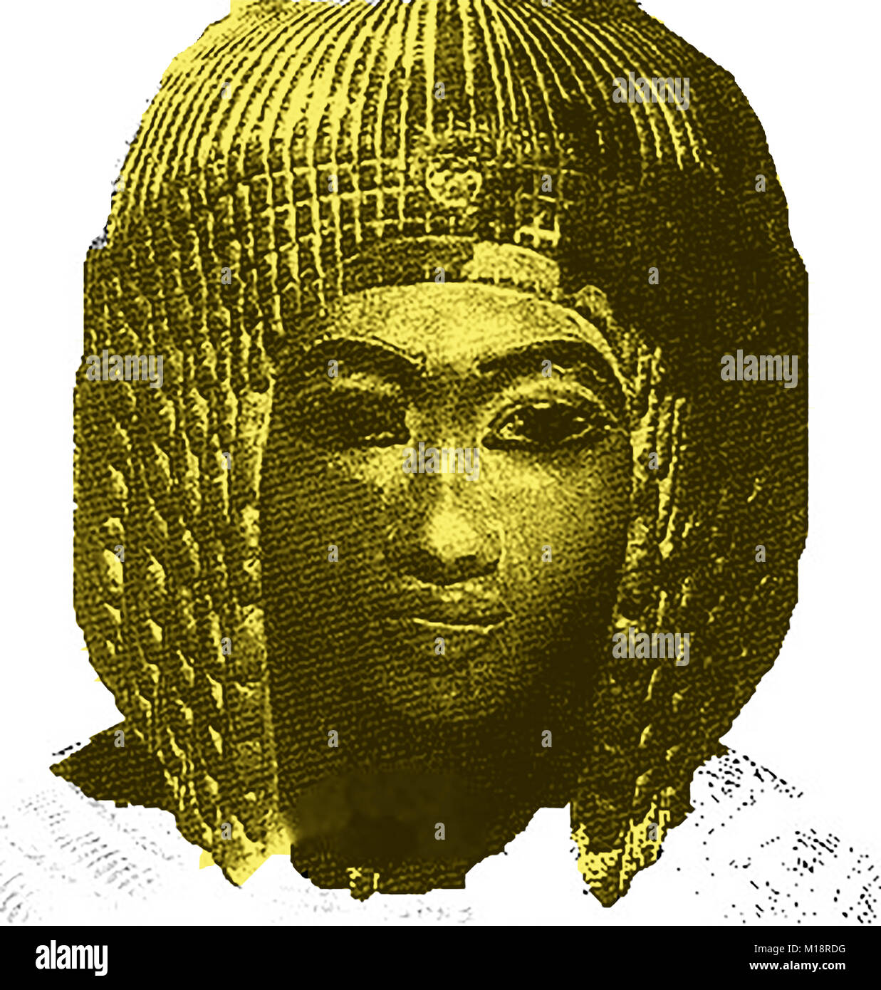 Egyptology, Magic and Mysticism   - MERY AMON, (Amarna II)  the supposed 'lost' Queen of Egyptian pharaoh - Stock Image