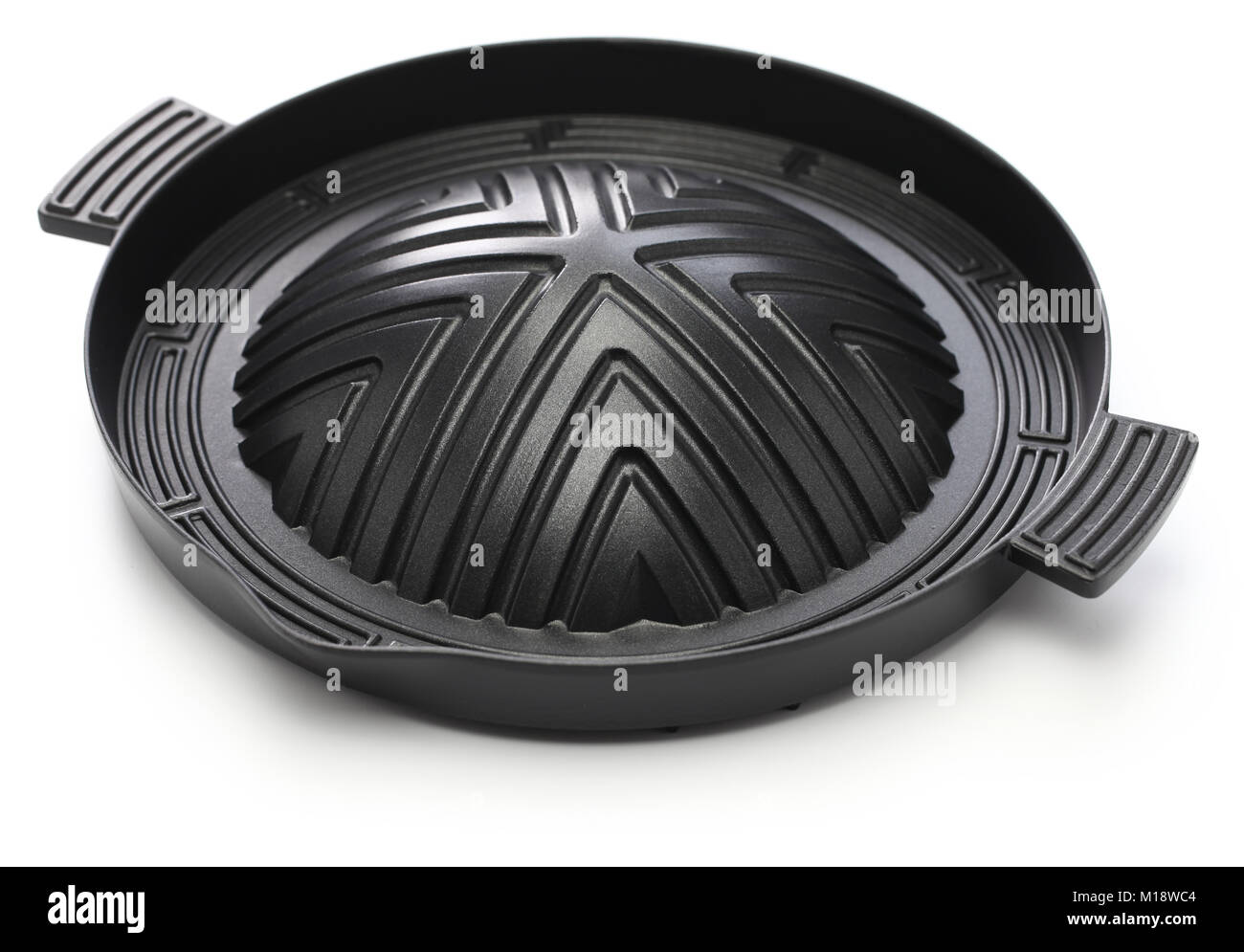 Pan for Jingisukan(Japanese style lamb barbecue), dome-shaped skillet - Stock Image