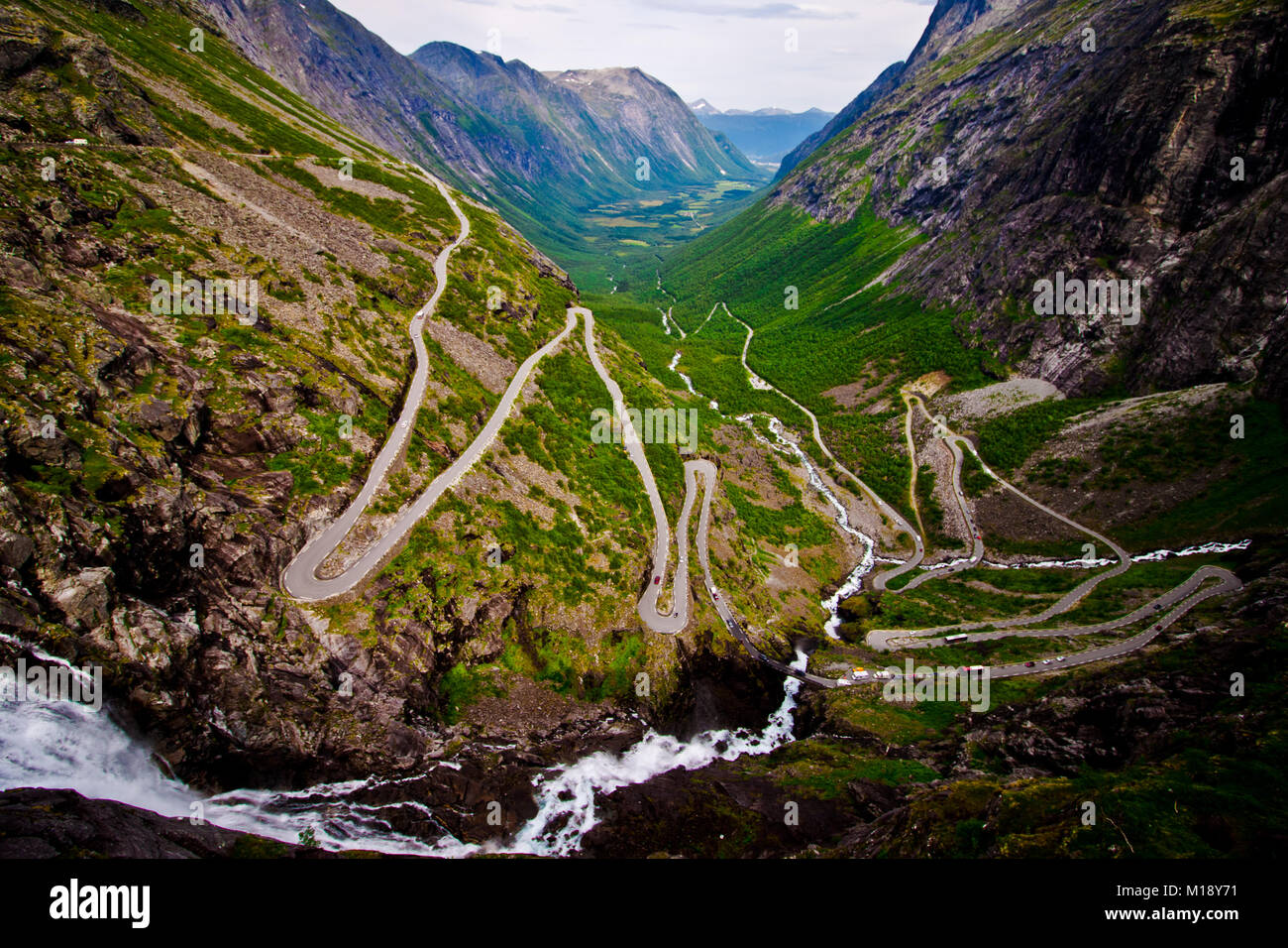 Trollstigen, Norway - Stock Image