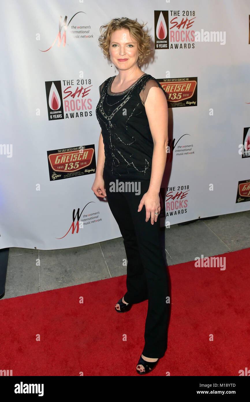 Laura Clapp attends the 6th Annual She Rocks Awards 2018 at House of Blues on January 26, 2018 in Anaheim, California. - Stock Image