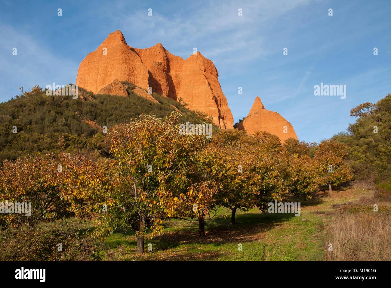 The Médulas, World Heritage site, Spain - Stock Image