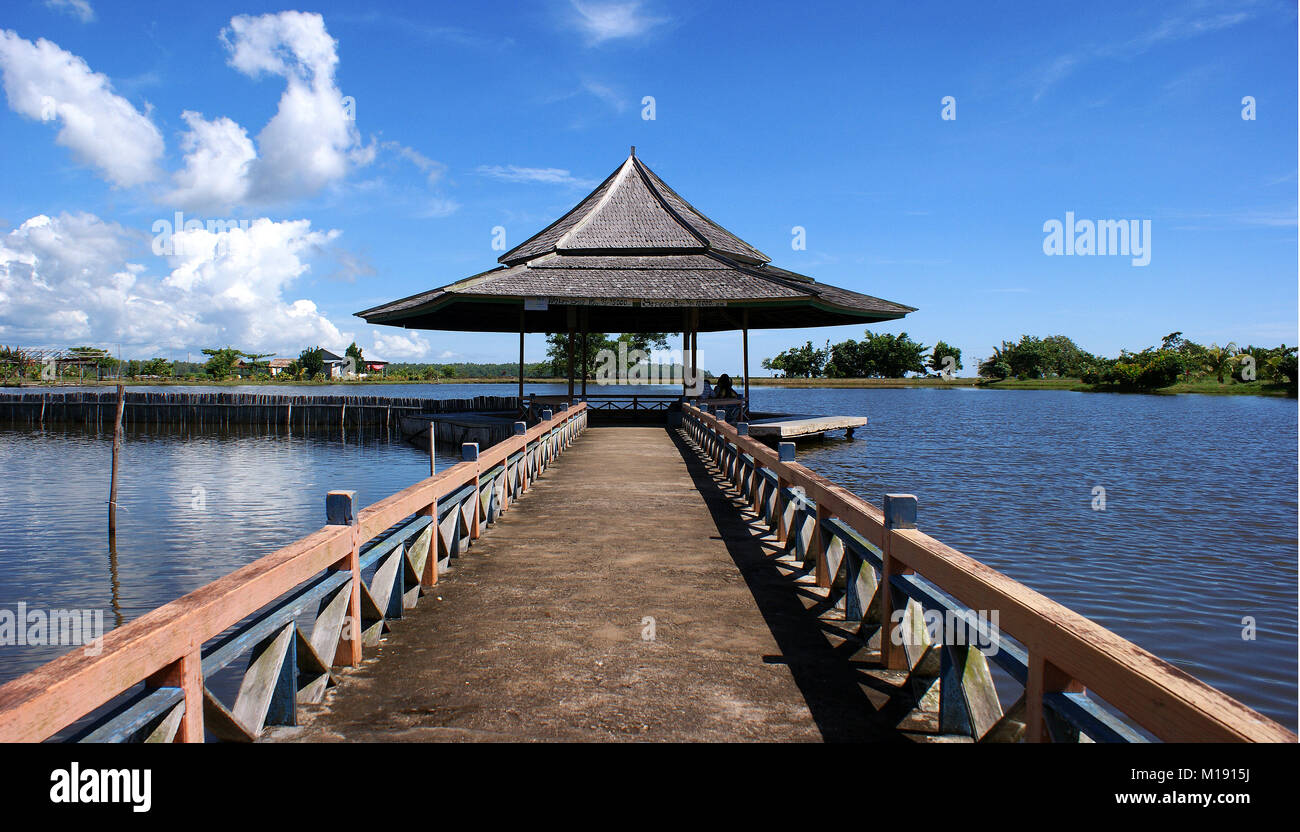 Jungkat Beach, Pontianak, West Kalimantan, Indonesia - Stock Image
