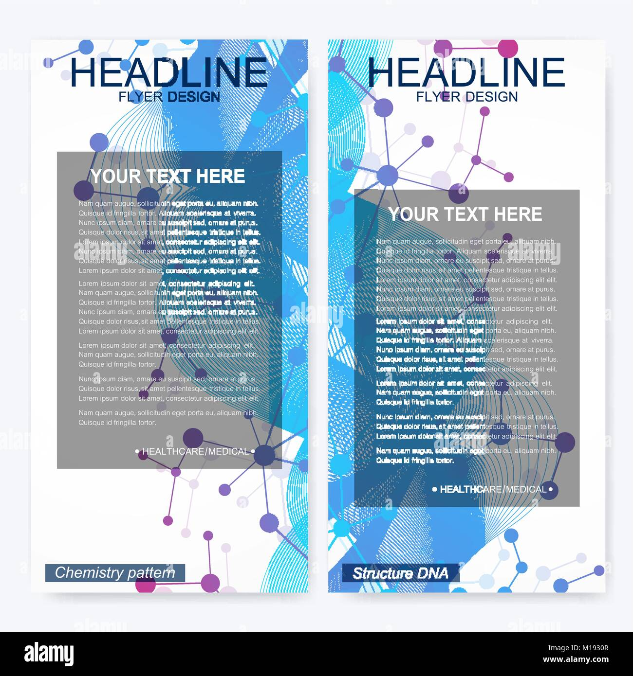 Leaflet flyer layout. Magazine cover corporate identity template ...