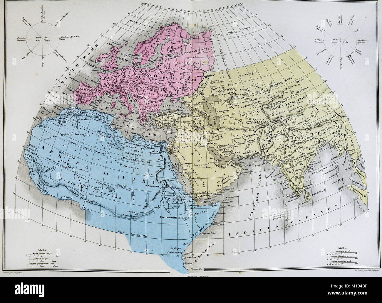 1877 migeon map ancient world europe africa asia stock photo 1877 migeon map ancient world europe africa asia gumiabroncs Gallery