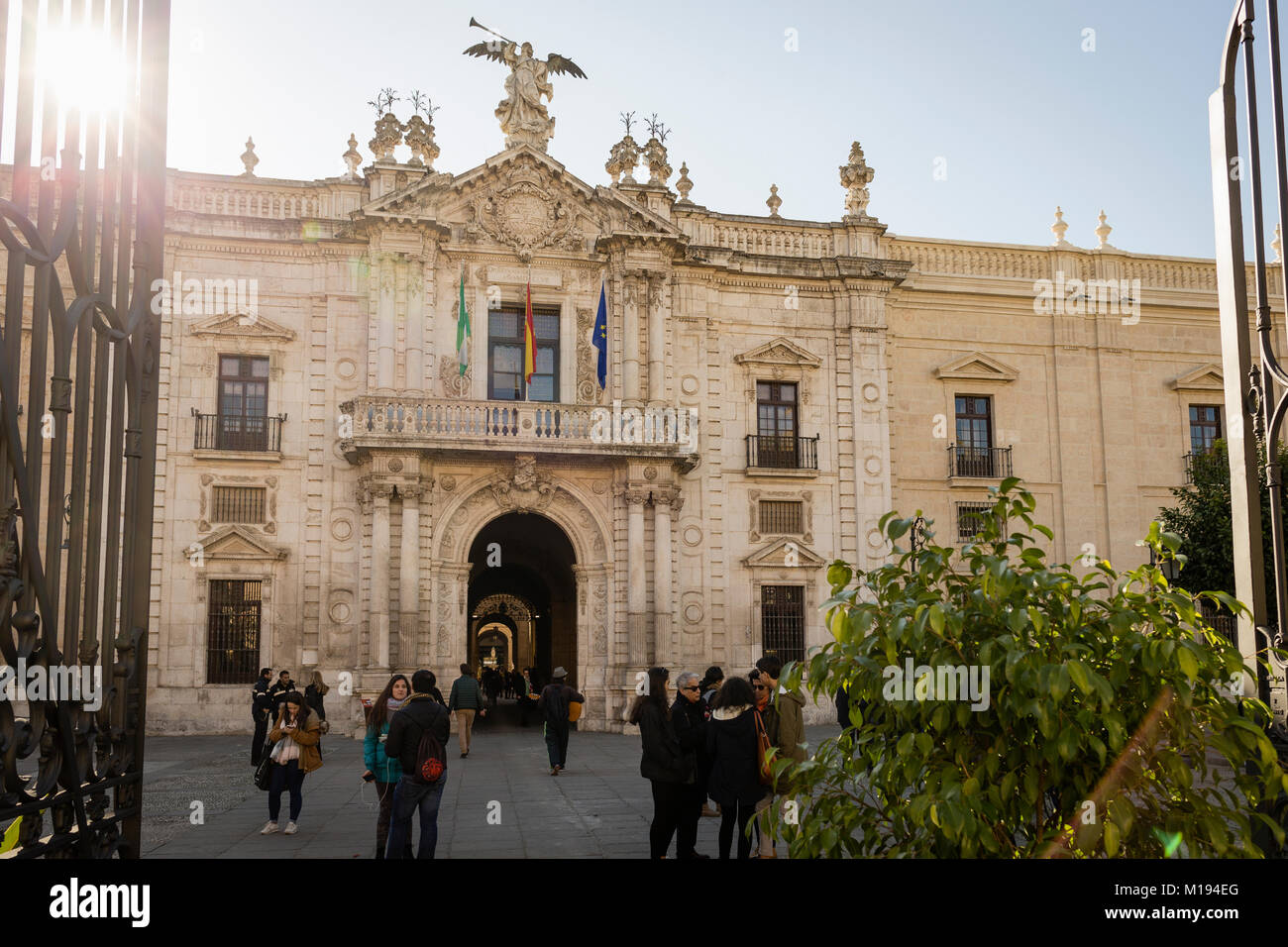 Real Fábrica de Tabacos - Universidad, Seville, Andalusia, Spain. - Stock Image