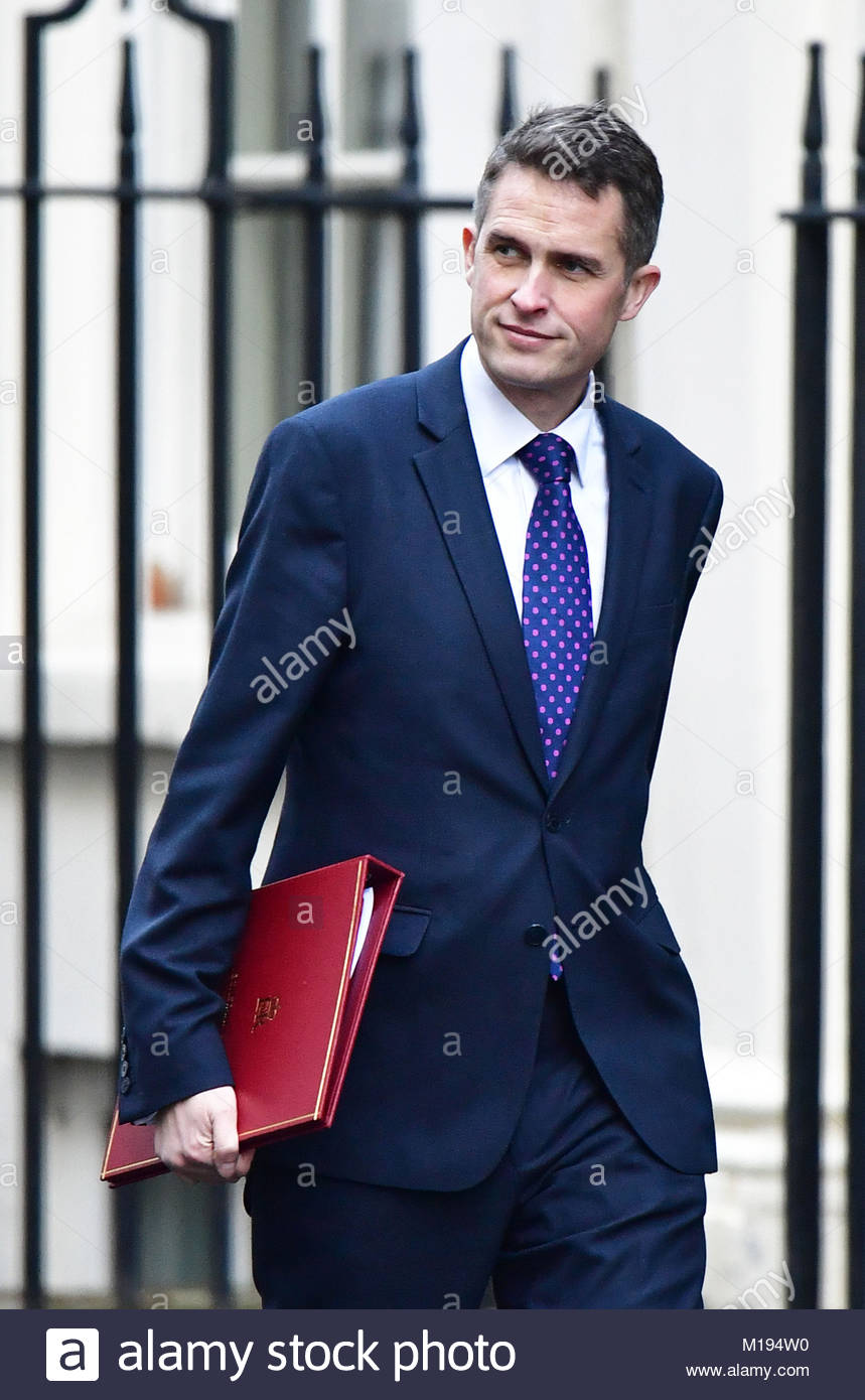 File photo dated 18/12/17 of Gavin Williamson as the battle to succeed Theresa May appeared to be intensifying as - Stock Image