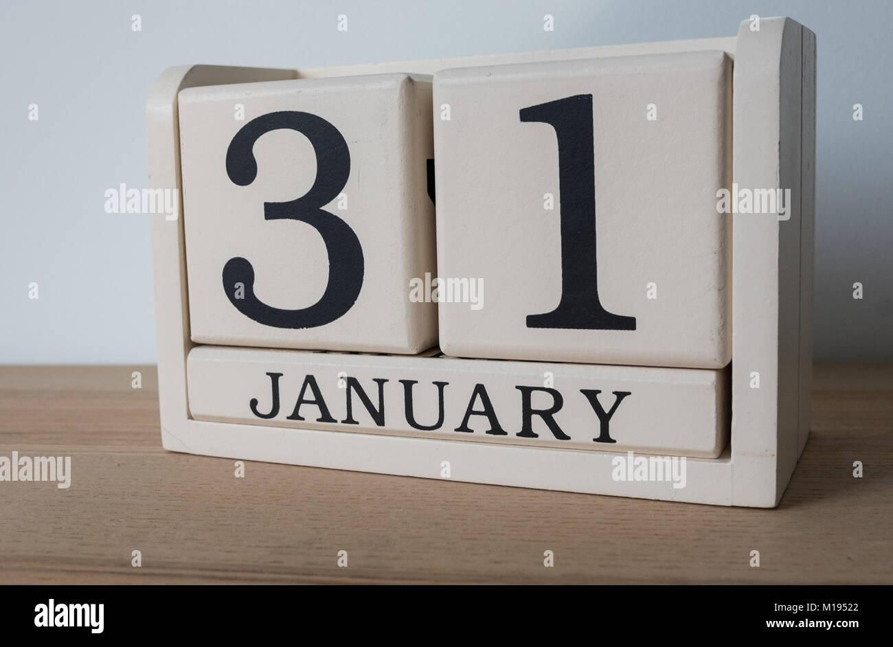 31st January, date on calendar. Self assessment tax deadline for self employed in the UK - Stock Image