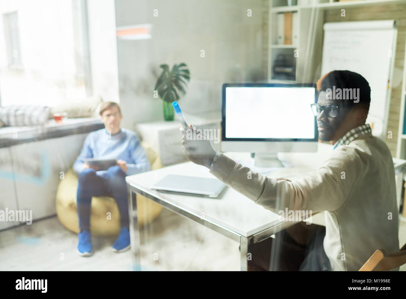 Professionals in Web Studio - Stock Image
