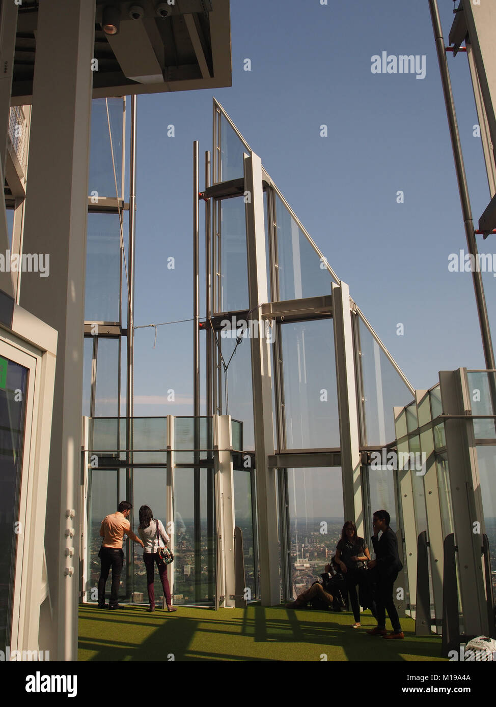 A View Of People On The Top Viewing Floor 72 Of The Shard London