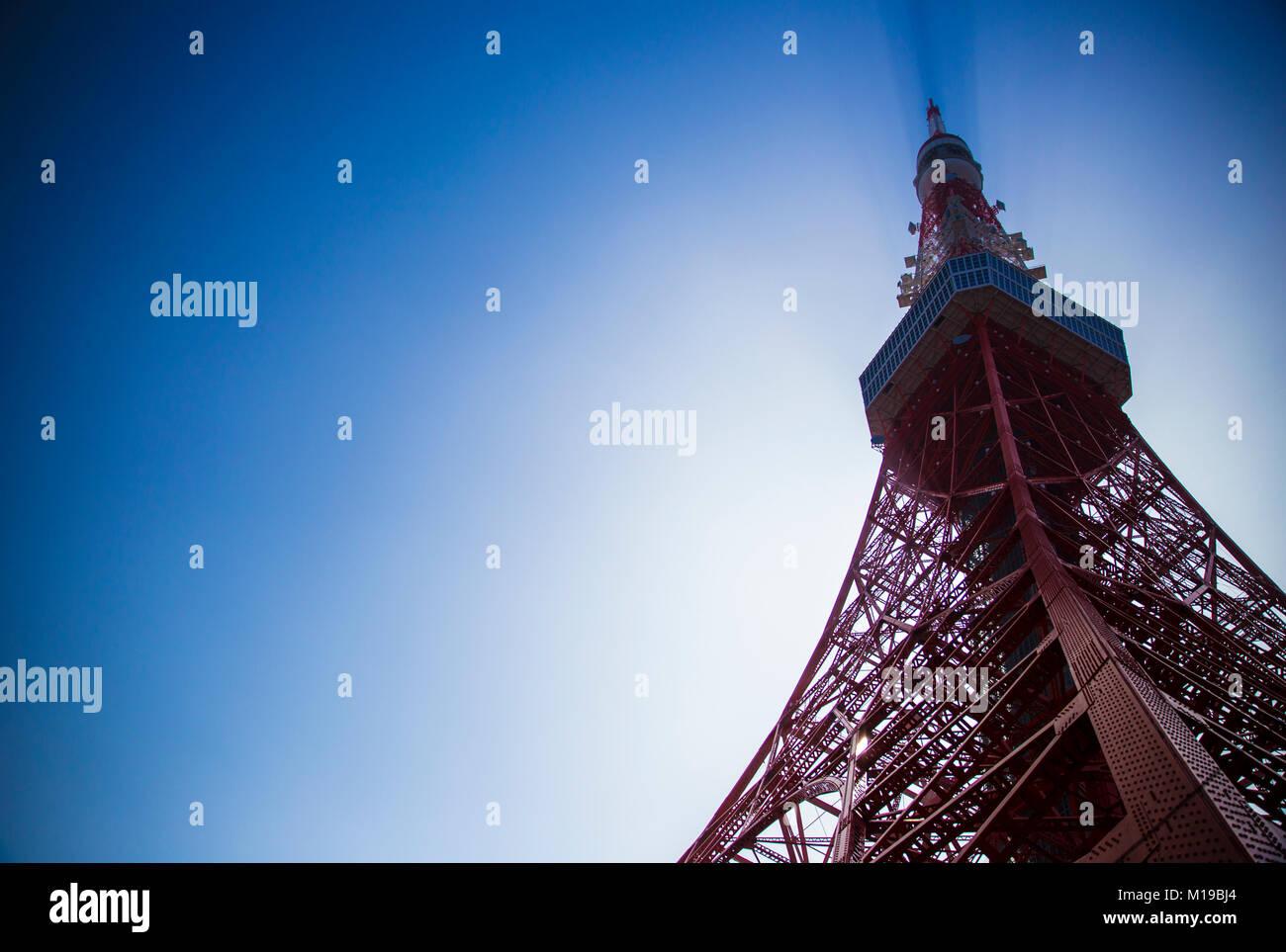 Tokyo Tower, Japan - Stock Image